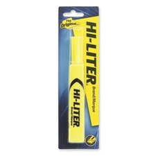 Highlighter, Chisel Point, 1/PK, Fluorescent Yellow