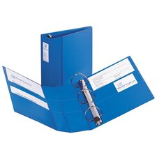 "3-Ring EZD Binder W/Label Holder, 4""Cap, 8-1/2""x11"", Blue"