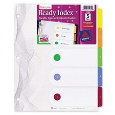 Designer Index Dividers, 5-Tab, Multi