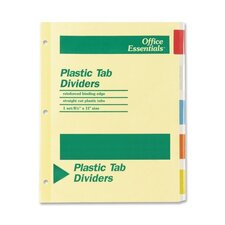 Office Essentials Insertable Tab Index Divider,5-Tab (Set of 5)