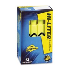 Hi-Liter Desk Style Highlighter, Chisel Tip, 12/Pack