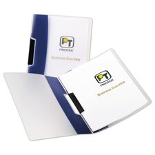 Report Cover, Swing Clip Binding, Holds 25 Pages, 4 per Pack, Navy