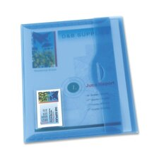 Translucent Document Wallets, Matte Finish, Light Blue