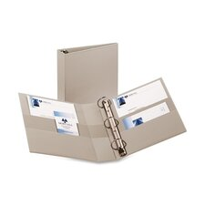 "Heavy-Duty EZD Binder, 11""x8-1/2"", Gray, 2"" Capacity"