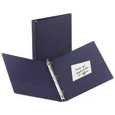"Economy Round Ring Reference Binder, 1-1/2"" Capacity, Blue"