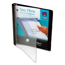 See-Thru Presentation Binders, 1/2in Capacity, Black