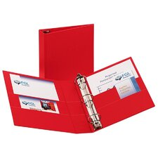 Durable EZ-Turn Ring Reference Binder, 8-1/2 x 11, 2in Capacity, Red
