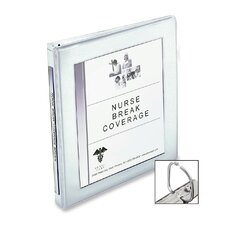 Framed Presentation Nonlocking Slant Ring View Binder, 1/2in Cap, White