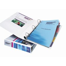 Nonstick Heavy-Duty EZD Reference View Binder, 1-1/2in Capacity, White