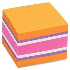 Removable Adhesive Sticky Notes Cube (Pack of 3)