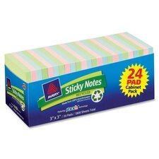 Recycled Sticky Notes Adhesive Pad (Pack of 24)