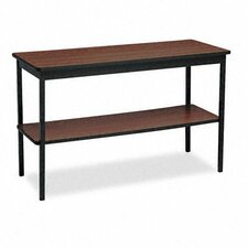 <strong>BARRICKS MANUFACTURING CO</strong> Rectangular Utility Table with Bottom Shelf, 48W X 18D X 30H
