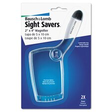 2X - 6X Sight Savers Rectangular Handheld Magnifier with Acrylic Lens