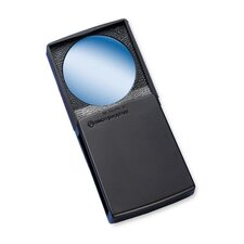 "Round Magnifier with Cover, 5x, 2"", Black Frame"