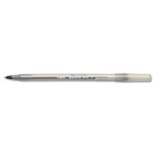 <strong>Bic Corporation</strong> Round Stic Ballpoint Stick Fine Pen, 12/Pack