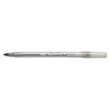 <strong>Bic Corporation</strong> Medium Round Stic Ballpoint Stick Pen, 12/Pack