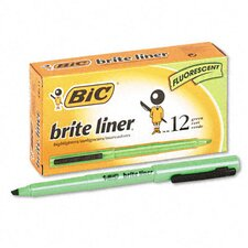 Chisel Tip Brite Liner Highlighter, 12/Pack