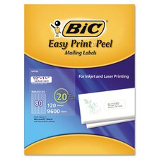 Easy Print & Peel White Mailing Labels, 1/2 x 1 3/4, White, 960/Box