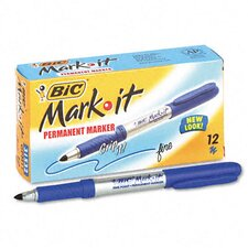 Mark-It Permanent Fine Point Markers, 12/Pack
