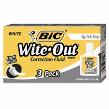 20 Ml Bottle Wite-Out Quick Dry Correction Fluid (3/Pack)