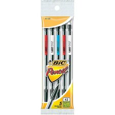 Mechanical Pencil, w/ 3 No. 2 Leads, 0.7mm, 5 per Pack