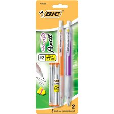 2 Count .9mm Bic Velocity Mechanical Pencil