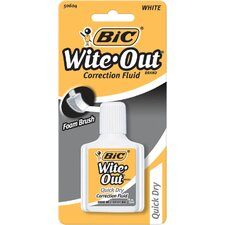 0.7 Oz Wite-Out Quick Dry Correction Fluid with Foam (Set of 6)