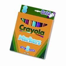 <strong>Crayola LLC</strong> Non-Washable Broad Point Markers (8/Set