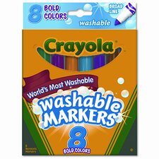 <strong>Crayola LLC</strong> Washable Broad Point Markers (8/Set)