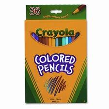 3.3 Mm Short Barrel Colored Woodcase Pencils (36/Set)