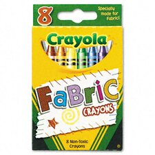Fabric Crayons (8 Colors/Box)