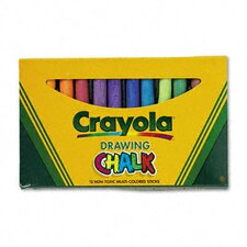 <strong>Crayola LLC</strong> Colored Drawing Chalk (12 Sticks/Set)
