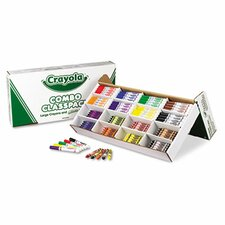 Classpack Crayons with Markers (8 Colors, 128 Each Crayons/Markers, 256/Box)
