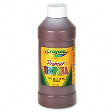 Premier Tempera Paint, Brown, 16 Ounces