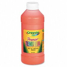 Premier Tempera Paint, Orange, 16 Ounces