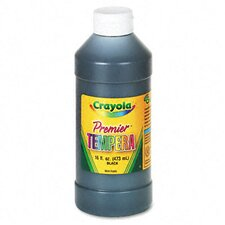 <strong>Crayola LLC</strong> Premier Tempera Paint, Black, 16 Ounces