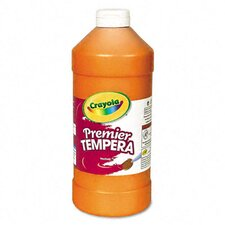 Premier Tempera Paint, Orange, 32 Ounces