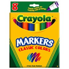 <strong>Crayola LLC</strong> Original Coloring Markers 8 Color