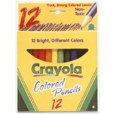 Colored Pencils 12 Half Length