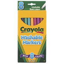 Washable Bold Colors Marker Thin-8