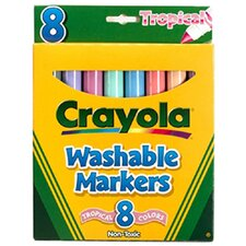 Washable Markers Tropical 8 Pk