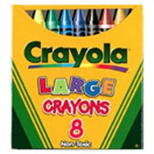 Crayola Large Size Tuck Box 8-pk