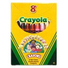 Multicultural Crayons Reg 8-pk