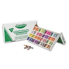 <strong>Crayola LLC</strong> Classpack Triangular Crayons (16 Colors, 256/Box)