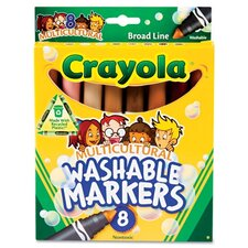 Washable Conical Point Marker (8/Pack)