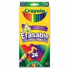 3.3 Mm Erasable Colored Woodcase Pencils (24/Set)