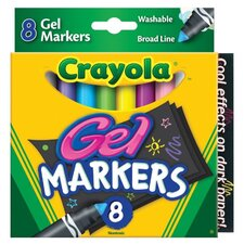 Washable Gel Markers (8 Pack)