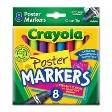 <strong>Crayola LLC</strong> Washable Poster Markers (8 Pack)