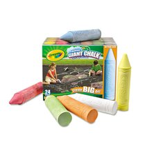 Giant Sidewalk Chalk (Set of 24)
