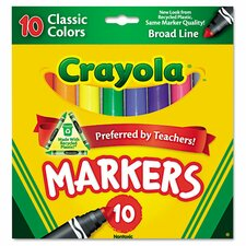Non Washable Markers (10 Pack)